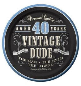 Creative Converting ASSIETTES 7PO (8) - VINTAGE DUDE 40