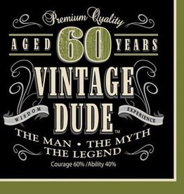 Creative Converting SERVIETTES DE TABLE (16) - VINTAGE DUDE 60