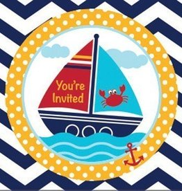 Creative Converting INVITATIONS ALLONS-Y MATELOTS! (8)