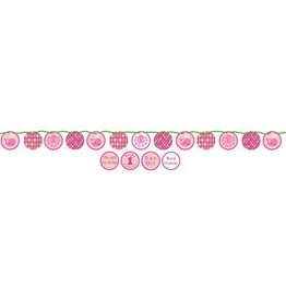Creative Converting BANNIERE BALEINES ROSES 5.5'