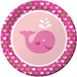 Creative Converting ASSIETTES 9PO BALEINES ROSES (8)