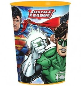 Amscan VERRE DE PLASTIQUE 16OZ - JUSTICE LEAGUE