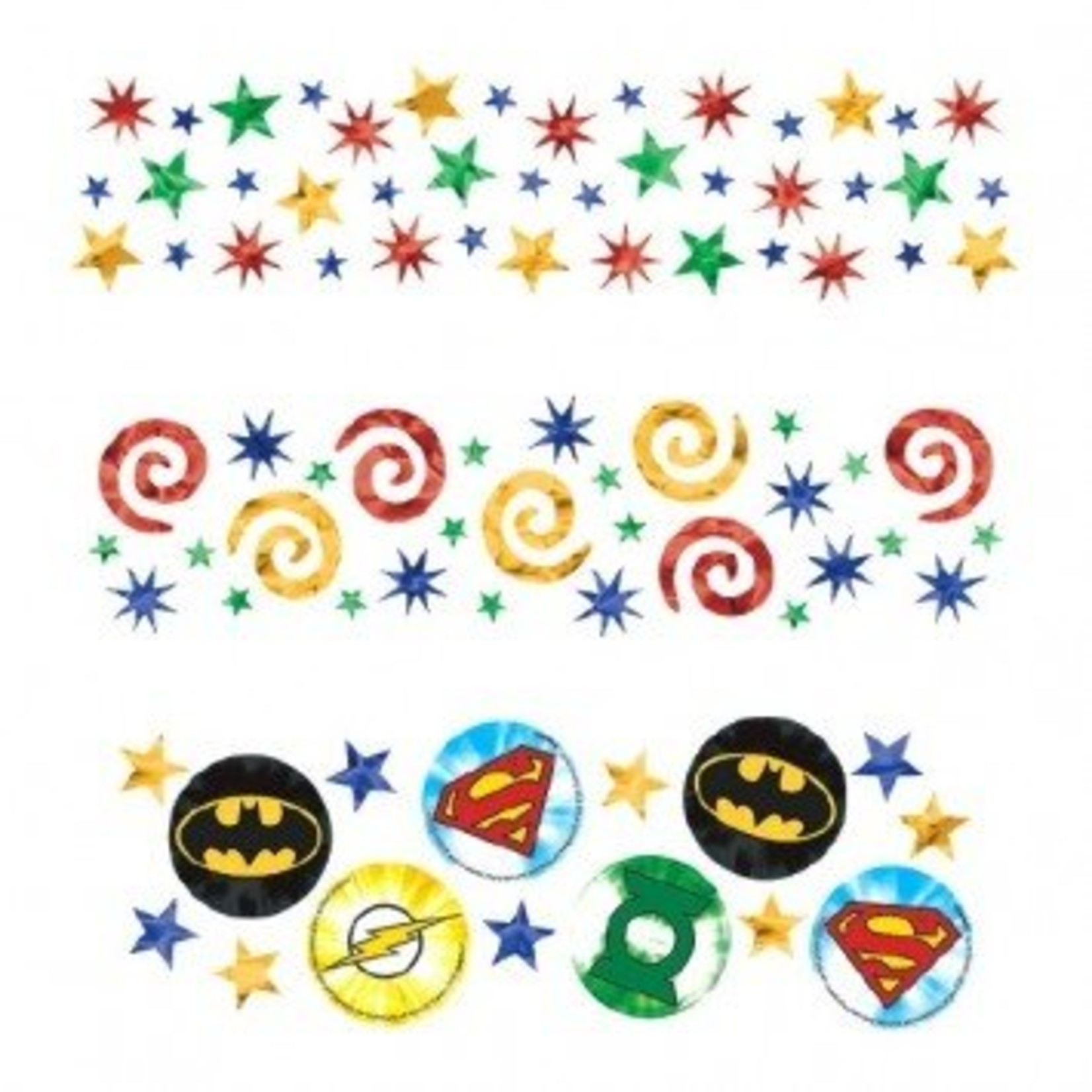 Amscan CONFETTIS 1.2OZ - JUSTICE LEAGUE