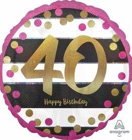 Anagram BALLON MYLAR 18'' - HAPPY BIRTHDAY 40