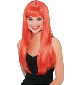 RUBIES WIG GLAMOUR LONG RED