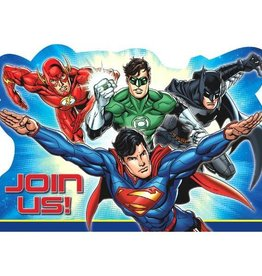 Amscan INVITATIONS - JUSTICE LEAGUE (8)