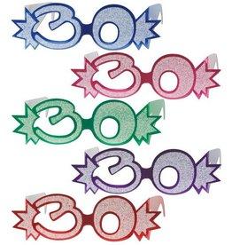 Beistle Co. LUNETTES DE CARTON 30 ANS (1)
