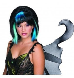 RUBIES WIG FAIRY GOTHIC BLACK AND BLUE