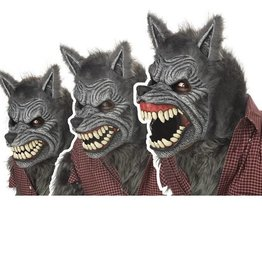 California Costumes MASQUE ANI-MOTION LOUP GAROU GRIS