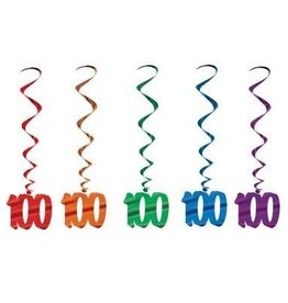 Beistle Co. DECORATIONS SPIRALEES 100 ANS (5)