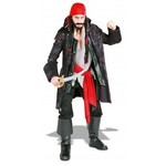 RUBIES COSTUME CAPTAIN PIRATE ADULT