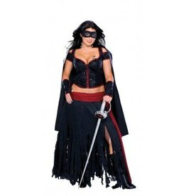 RUBIES COSTUME ADULTE LADY ZORRO TAILLE PLUS