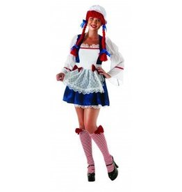 RUBIES COSTUME ADULTE RAG DOLL -TAILLE PLUS