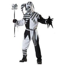 California Costumes COSTUME JESTER BLACK AND WHITE