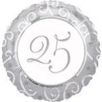 Anagram BALLON MYLAR 18PO - 25E ANNIVERSAIRE DE MARIAGE
