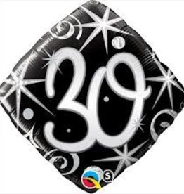 Anagram BALLON MYLAR 18PO FORME DE LOSANGE 30ANS
