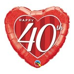 Qualatex BALLON MYLAR 18PO - HAPPY 40TH