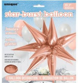Unique BALLON MYLAR À L'AIR: ÉTOILE EXPLOSIVE ROSEGOLD 27.5'' (STAR-BURST)