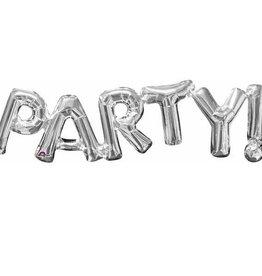 "Anagram BALLON MYLAR 16"" - ""PARTY!""  - ARGENT"