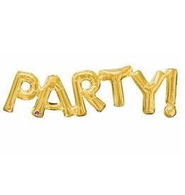 "Anagram BALLON MYLAR 16"" - ""PARTY!""  - OR"