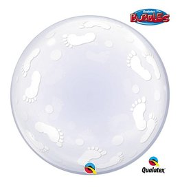 Qualatex DECO BUBBLE BABY FOOTPRINTS 24""
