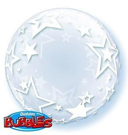 "Qualatex DECO BUBBLE STYLISH STARS 24"" BUBBLE"