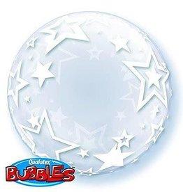 """Qualatex DECO BUBBLE STYLISH STARS 24"""" BUBBLE"""