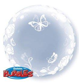 """Qualatex DECO BUBBLE ELEGANT ROSES 24"""" BUBBLE"""