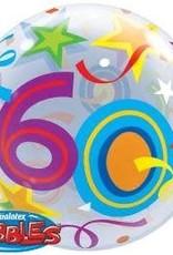 Qualatex BALLON BUBBLES 60 ANS