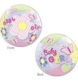 Qualatex BALLON BUBBLE BABY GIRL