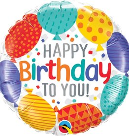 Qualatex BALLON MYLAR 18'' - HAPPY BIRTHDAY