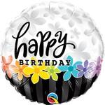 Qualatex BALLON MYLAR 18PO - HAPPY BIRTHDAY