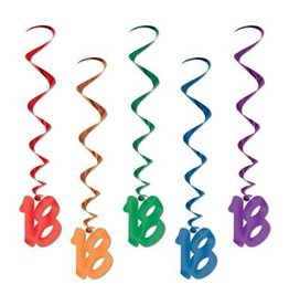 Beistle Co. DECORATIONS SPIRALEES 18 ANS (5)