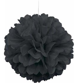 "Unique PUFF DECOR 16"" BLACK"