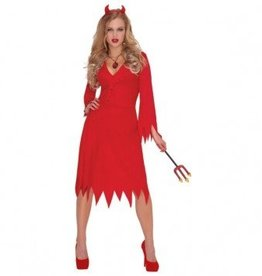 Amscan COSTUME ADULTE DIABLESSE ROUGE BRULANT