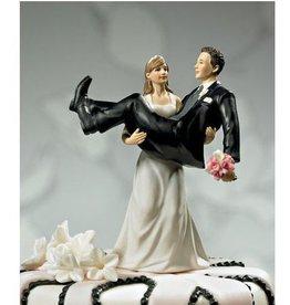Weddingstar FIGURINE A GÂTEAU - MARIÉE QUI PORTE LE MARIÉ