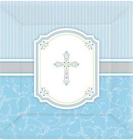 Amscan ASSIETTES 10'' (8) - BÉNÉDICTIONS BLEU