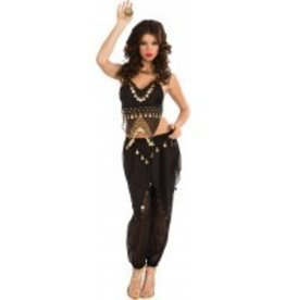 RUBIES COSTUME BLACK BELLY DANCER