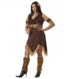 California Costumes COSTUME NATIVE AMERICAN PRINCESS PLUS SIZE