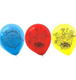 """Amscan SAC DE 6 BALLONS 12"""" EN LATEX - DC SUPER-HÉROINES"""