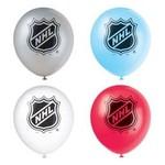 Unique SAC DE BALLONS LATEX 12'' (8) - NHL