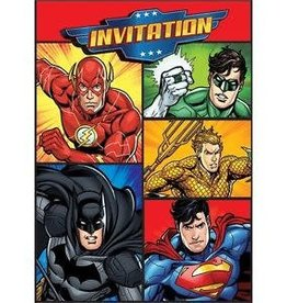 Unique INVITATIONS (8) - JUSTICE LEAGUE