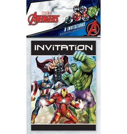 Unique INVITATIONS (8) - AVENGERS