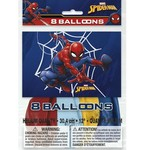 Unique SAC DE 8 BALLONS 12PO - SPIDERMAN