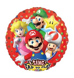 Anagram BALLON MYLAR SUPERSHAPE MUSICAL - SUPER MARIO