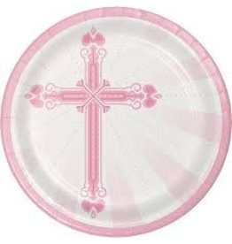 Creative Converting ASSIETTES 9'' (18) - CROIX ROSE