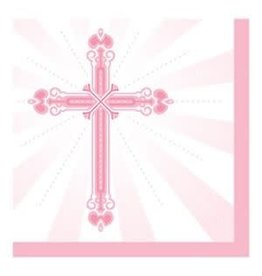 Creative Converting SERVIETTES DE TABLE (36) - CROIX ROSE