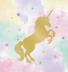 Creative Converting *SERVIETTES DE TABLE (16) - LICORNE PASTEL