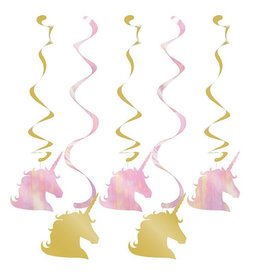 Creative Converting DÉCORATIONS SUSPENDUES (5) - LICORNE PASTEL