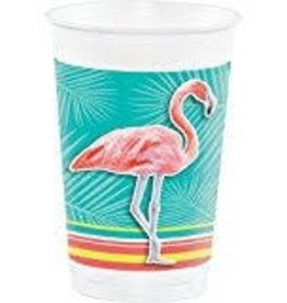 Creative Converting VERRES DE PLASTIQUE 16OZ - FLAMANTS ROSES (8)